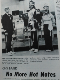 The new CHS band uniforms that came out that year.